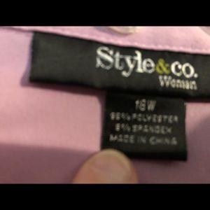 EUC - Purple Button Down Shirt - 18W